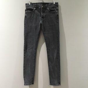 H & M | Slim Skinny Low Waist Black Jeans 30 / 32